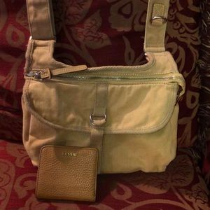 Fossil crossbody and wallet